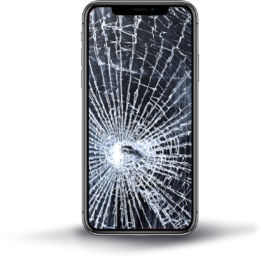 Mobile Phone Broken Glass